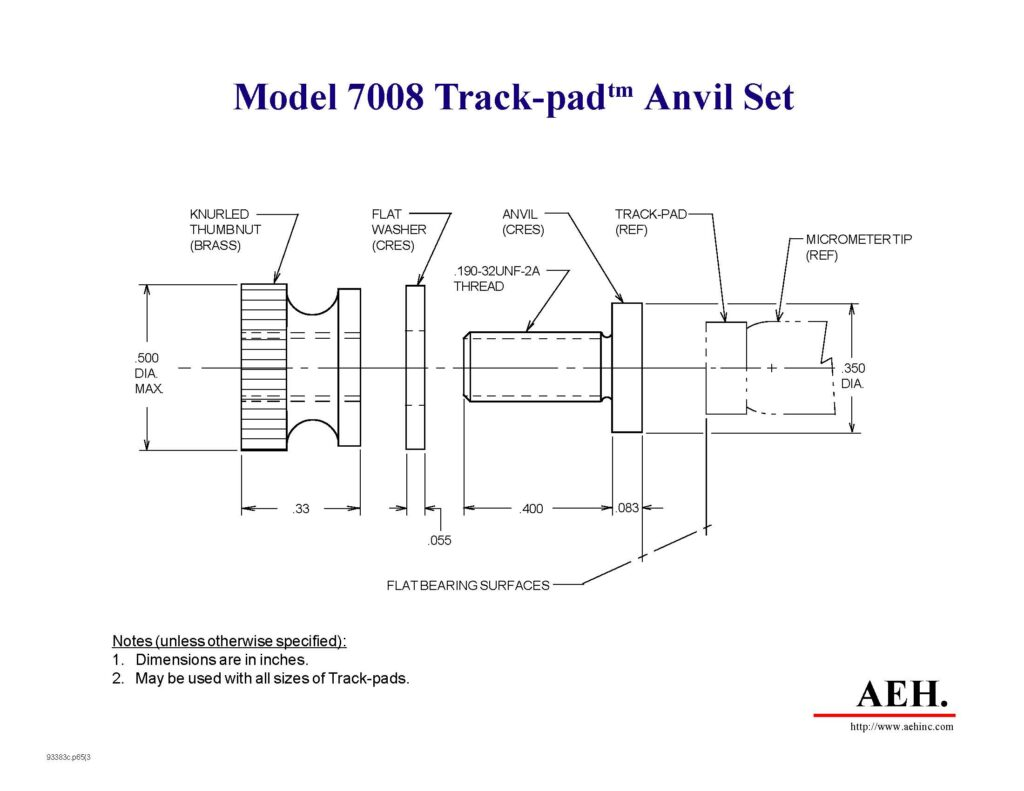 track pad anvil
